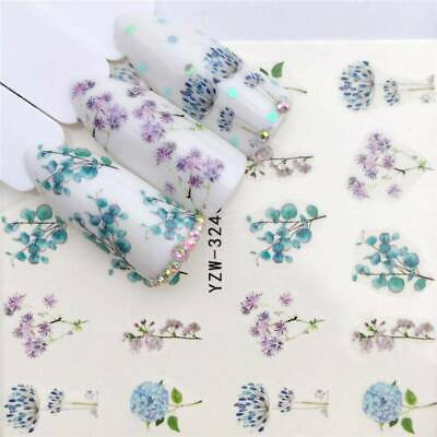 Flower 3D Nail Art Transfer Stickers Decals 1 Sheets Manicure Decoration Tips