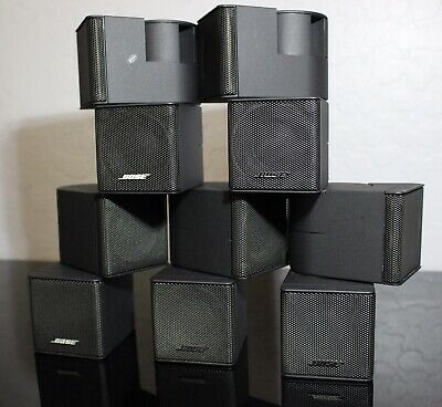 5 Bose Premium Double Cube Surround Lifestyle Speakers (Black) Matching Wires