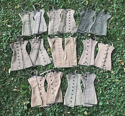 Lot Of 8 - Wwii Us Army Canvas Lace Up Leggings Spats Gaiters
