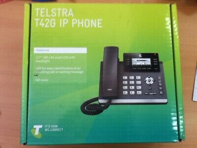 NEW TELSTRA T42G 12 Line Gigabit Cable IP Phone