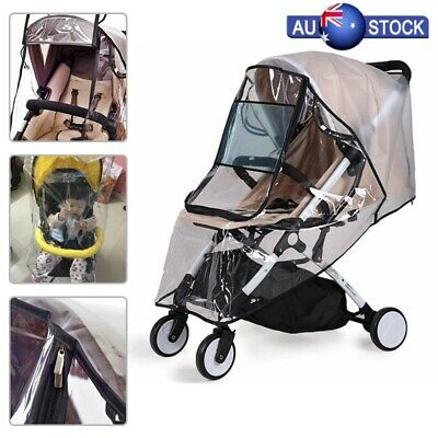 Universal Rain Cover for Pushchair Stroller Buggy Pram Carrycot Transparent AU