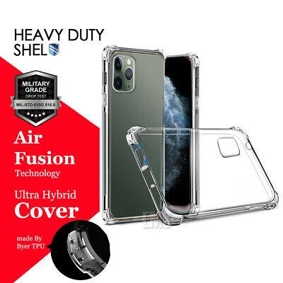 For iPhone 11 Pro Max 2019 Shock Proof Hybrid Clear Heavy Duty TPU Case Cover CA