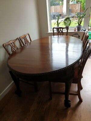 Victorian Dining Table and 8 Chairs