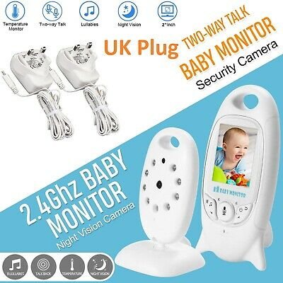 """Baby 2"""" Monitor Color LCD Wireless Audio Talk Night Vision Digital Video 2.4GHz"""