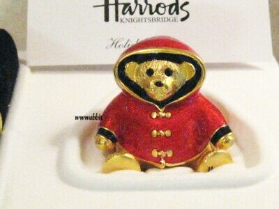 Estee Lauder for Harrods 2003 Holiday Bear Solid Perfume Compact MIBB 1/400