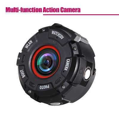 Wifi 1080P Ultra HD Action Camera Video Camcorder Wide-angle W/ Watch Band Black