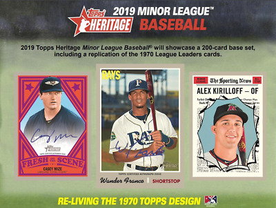 2019 Topps Heritage Minor League COMPLETE BASE CARD SET # 1-200 PRE-SELL