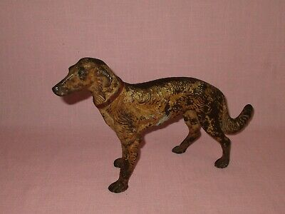 Antique Hubley Cast Iron Russian Wolfhound Borzoi Dog Doorstop Figure 11 1/2""