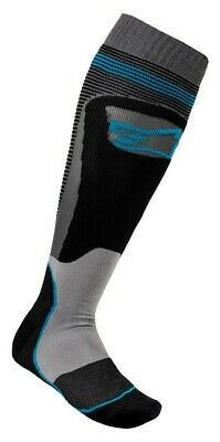 2020 Alpinestars Mx Plus 1 Boot Socks Black Cyan Motocross Mx Enduro Cheap New