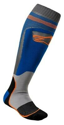 2020 Alpinestars Mx Plus 1 Boot Socks Blue Orange Motocross Mx Enduro Cheap New