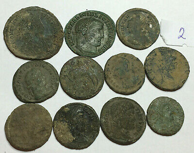 >>> Beautiful Uncleaned High Quality Ancient Roman Coins 10pcs <<<