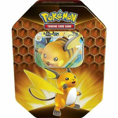 Pokemon Hidden Fates Raichu GX Collectors Tin | Inc Booster Packs & Promo Card