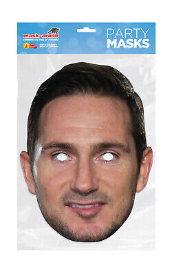 Frank Lampard Face Party Mask Card A4 Fancy Dress Ladies Men Kids Football Sport