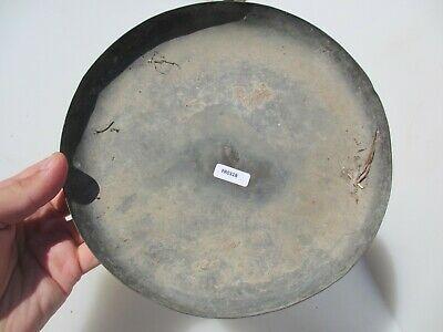 """Antique Brass Scales Pan Bowl Hanging Dish Scale Old Victorian French 8""""W"""