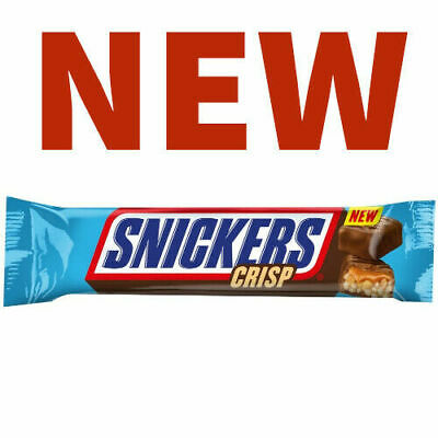 Full Box of 24 =NEW= Snickers Crisp Chocolate Bar Free Tracked Delivery