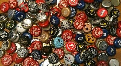LOT OF 100 BEER BOTTLE CAPS ~ Large Variety ~ ARTS ~ CRAFTS most w/ no dents