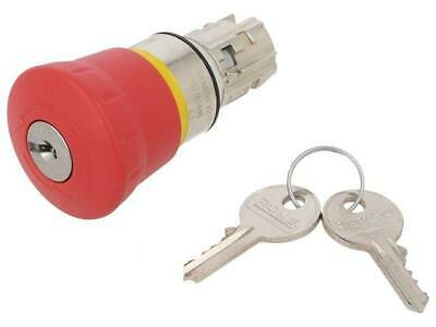 3SU1050-1HG20-0AA0 Switch emergency stop with key 2-position 22mm red