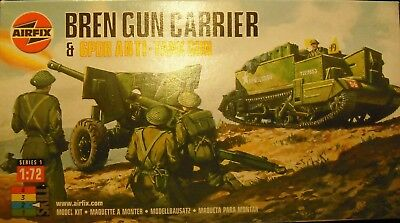 +++ BREN GUN CARRIER & 6 PDR A/T GUN + 1:72 KIT by AIRFIX ++