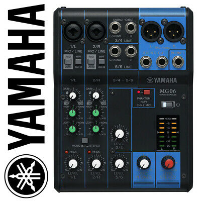 Yamaha MG06 6-Channel Console de Mixage Live Studio Analogiques Mixer MG Series
