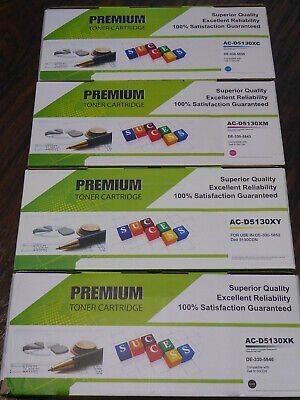 4 PK Black Color Toner Combo Set for Dell 5130cdn 5130 5130CN 5120CDN 5140CDN