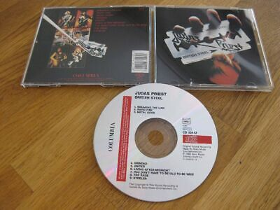 JUDAS PRIEST british steel RARE Columbia CD 32412 |Meryful Fate, Running Wild|