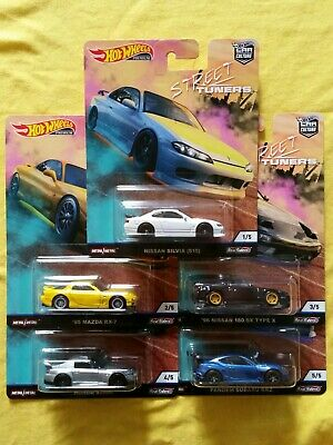 HOT WHEELS 2019 CAR CULTURE STREET TUNERS - Set of 5