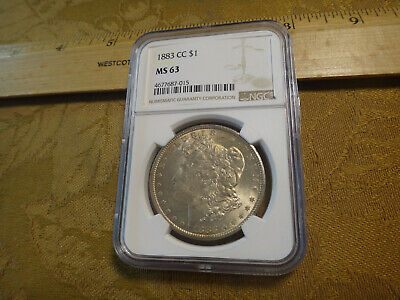 1883-CC Morgan Silver Dollar Coin $1 NGC MS63 Light Toning - Free S&H USA