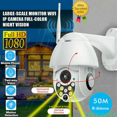 1080P WIFI IP Camera WHITE Wireless Outdoor CCTV HD Home Security IR Cam 2MP