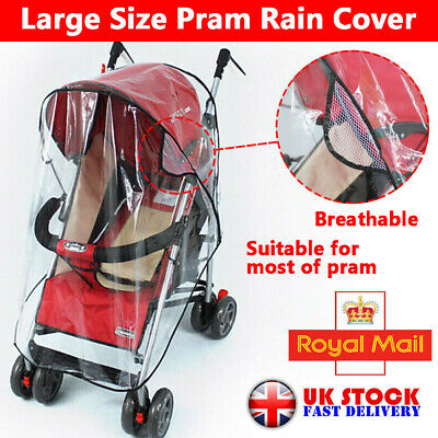 Universal Raincover Buggy Pushchair Stroller Pram Baby Car Rain Snow Wind Cover