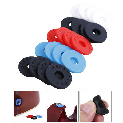 4pcs Silicone fender strap lock system easy install for guitar bass ukulele L_D