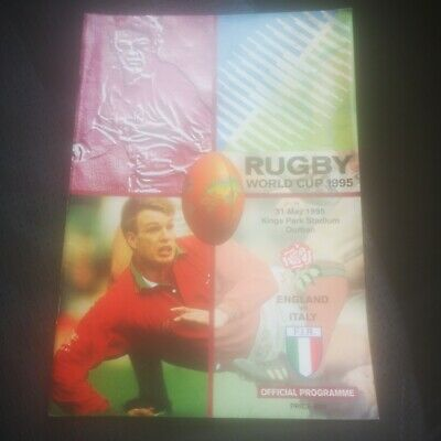 Rugby Union World Cup 1995 Programme england v Italy 31.5.1995