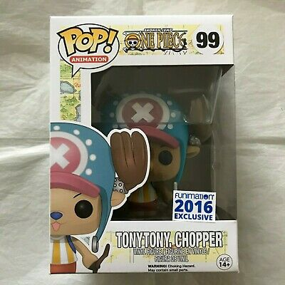 Funko Pop! One Piece Flocked Tony Tony Chopper #99 2016 Funimation Excl! VAULTED