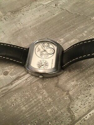women's large stainless steel Emporio Armani classic wristwatch