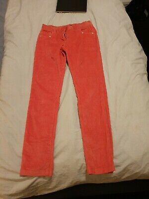 DKNY Girls Size 12XS Pink Corduroy Trousers Used but in excellent condition