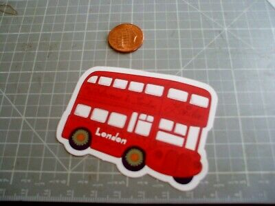 "Double Decker Bus London Tourist Car Bumper Window Notebook Sticker Decal 4/""X5/"""