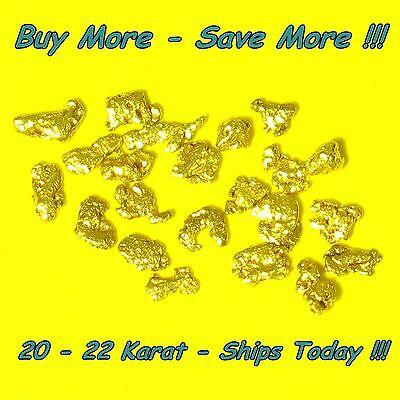 .275 Gram Natural Raw Alaskan Placer Panned Gold Nugget Flake 18-20k From Alaska