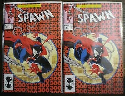 SPAWN 300 AMAZING SPIDERMAN HOMAGE PARODY J VARIANT TODD McFARLANE LOT OF 2 🔥🔥