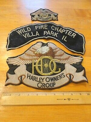Harley Owners Group Patch lot large pre-owned