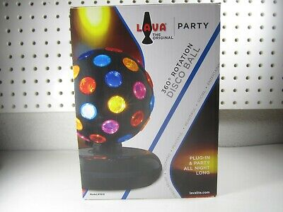 LAVA Original Disco Ball 360 Rotation party Lights Model #1081 entertaining lamp