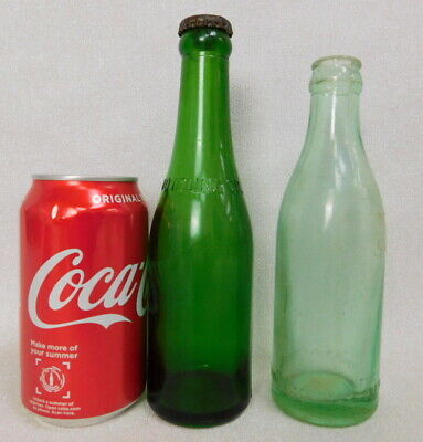 Antique prewar Coca Cola Coke bottle lot emerald green straight side Union SC