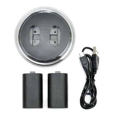 2 Rechargeable 2800mAh Battery w/ Free Play Charge Cable for Xbox One Controller