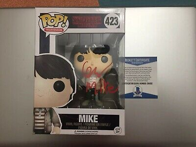 Mike Stranger Things Signed Finn Wolfhard Funko Pop Beckett Coa 423