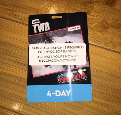 New York Comic Con 4 Day Pass NYCC 2019 Javits NYC Badge Ticket SOLD OUT