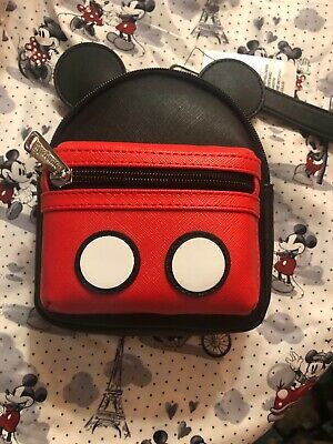 Disney Parks Loungefly Mickey Mouse Micro Backpack Wristlet