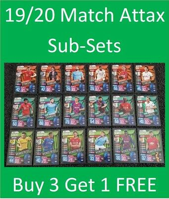 2019/20 Match Attax UEFA Soccer Cards - Special Sub Sets - Buy 5 Get 10 FREE