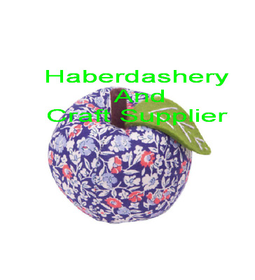 Pin Cushion Apple Shape Printed Liberty Of London Victorian Style