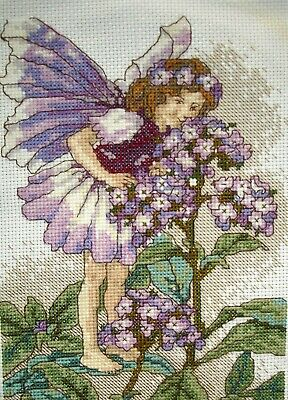 Flower Fairies Completed Counted Cross Stitch Unframed Picture Heliotrope Fairy