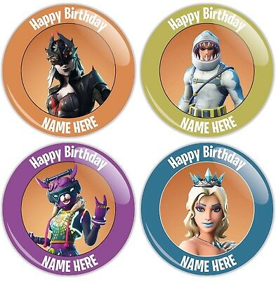 Personalised Fortnite Styled Birthday Badge - 4 Designs - 2 Sizes