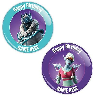 Personalised Fortnite Styled Birthday Badge - 2 Designs - 2 Sizes
