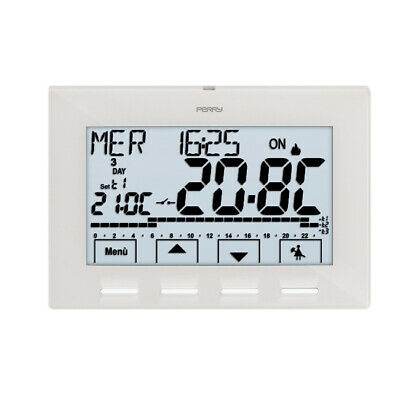 Perry - Thermostat programmable digital hebdomadaire 230V NEXT
